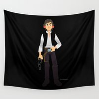 han solo Wall Tapestries featuring Han Solo by Roe Mesquita