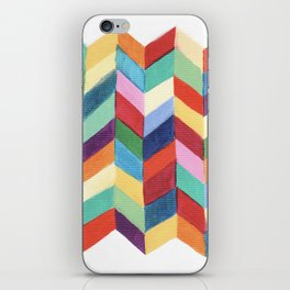 Rainbow Chevron iPhone Skin