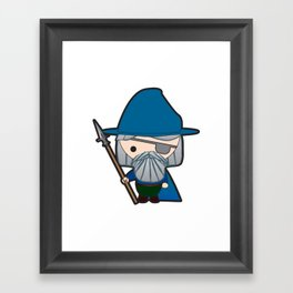 Odin, Ruler of the Norse Gods, Chibi-fied Framed Art Print