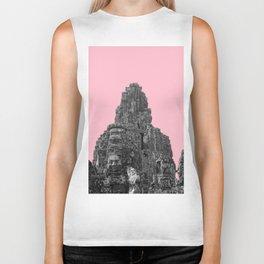 Angkor Wat with pink Biker Tank
