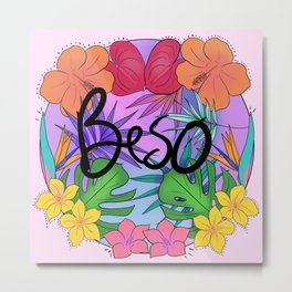 Beso Metal Print
