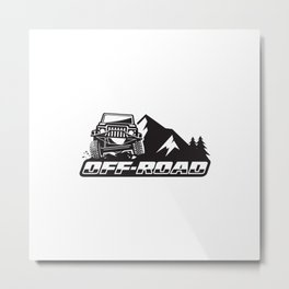 Off road adventure rally Metal Print