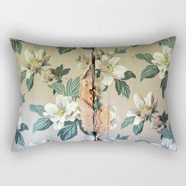 Gardenias Vintage Floral Design Rectangular Pillow