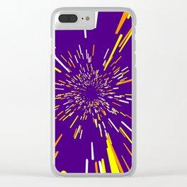 Space Trip 1 Clear iPhone Case
