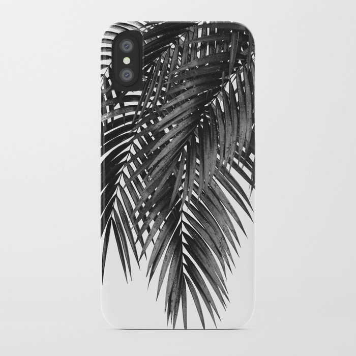198e91c005 Palm Leaves Black & White Vibes #4 #tropical #decor #art #society6 iPhone  Case