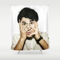 darren criss Shower Curtains featuring Darren Criss by weepingwillow