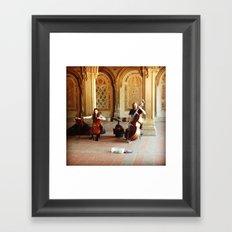 Central Park Musicians Framed Art Print