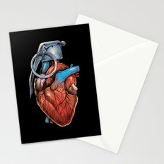 Heart Grenade Stationery Cards