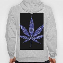 Weed : High Times Blue Floral Hoody