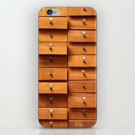 Wooden cabinet with drawers iPhone Skin
