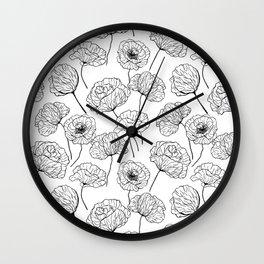 Poppy garden Wall Clock