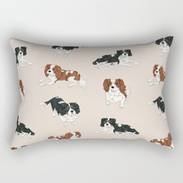 Cavalier King Charles Spaniels Mully and Sojo Rectangular Pillow