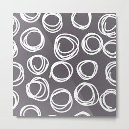 Doodled Circles Metal Print