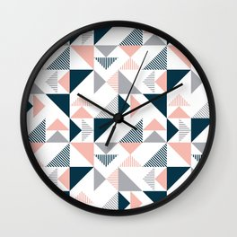 Triangles decoration Wall Clock