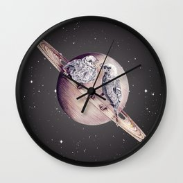 Space Sparrows Wall Clock