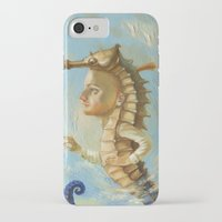 sea horse iPhone & iPod Cases featuring Sea horse by Nataliya Derevyanko