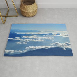 Mountains and Clouds in Nepal Rug