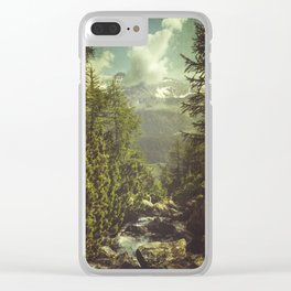 Mountain View - Italian Alps Clear iPhone Case