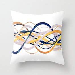 3D Helix Throw Pillow