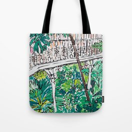 Kew Gardens Jungle Botanical Painting Greenhouse Tote Bag
