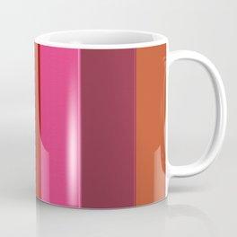 Modern girly pink fashion color block stripes Coffee Mug