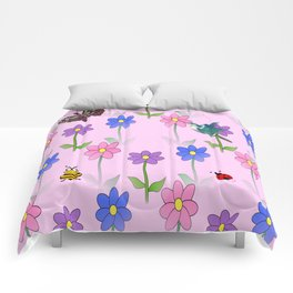 Pink Nature Comforters