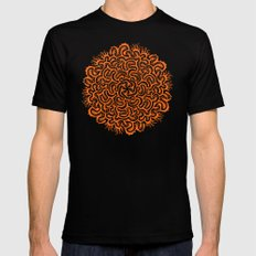 Bugs Maze (orange) MEDIUM Black Mens Fitted Tee