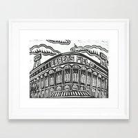 dodgers Framed Art Prints featuring Ebbets Field by Peter Dunne
