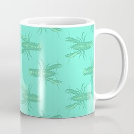 Green Lobster Coffee Mug