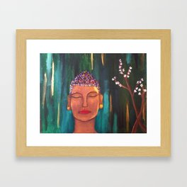 zen blossom Framed Art Print