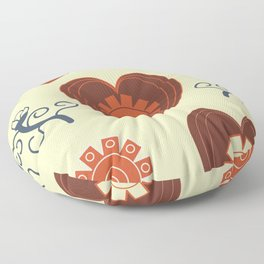 Hearts and flowers pattern Floor Pillow
