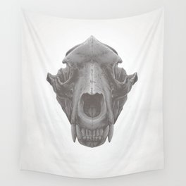 Grizzly Skull Wall Tapestry