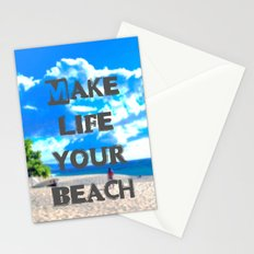 Make Life Your Beach Stationery Cards