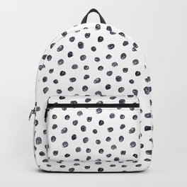 Watercolor doodle monochrome polka dot Backpack