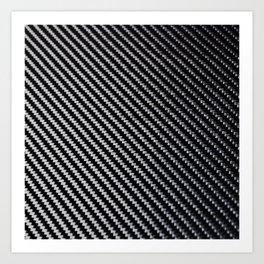 Carbon Fiber texture Art Print