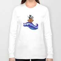fishing Long Sleeve T-shirts featuring Cat  Fishing by Cat Attack