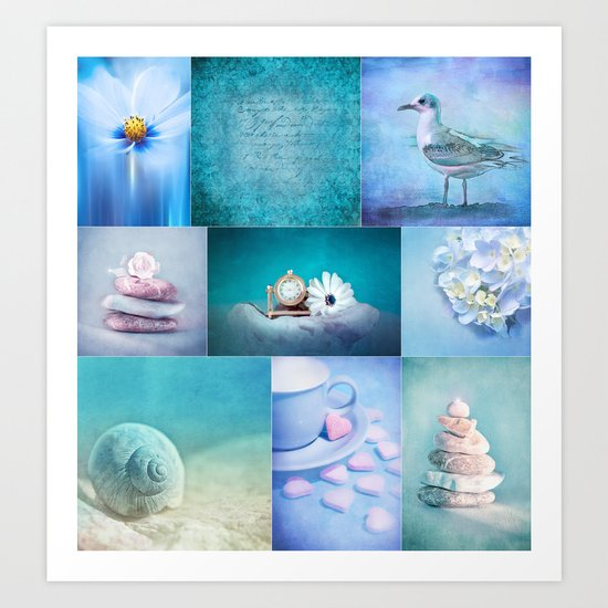 COLLECTION BLUE Art Print