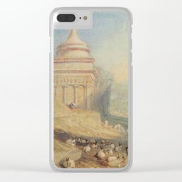 """J.M.W. Turner """"The Valley of the Brook at Kidron, Jerusalem (Absalom's Tomb)"""" Clear iPhone Case"""