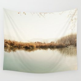 Autumn Lake Scene Wall Tapestry