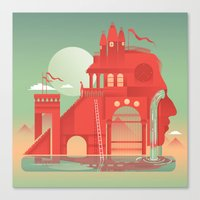 team fortress Canvas Prints featuring Fortress by Six Foot Giraffe