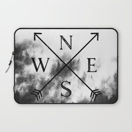 Foggy Forest Compass Laptop Sleeve