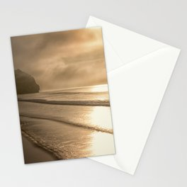 And so it Begins sunrise at Avila Beach California Stationery Cards