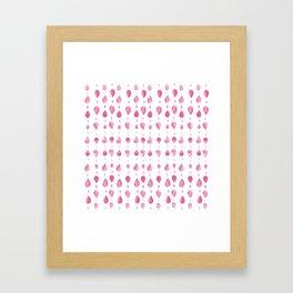 Pattern - pink Framed Art Print
