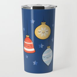 Merry Christmas! Jolly Stars, Baubles & Bells Travel Mug