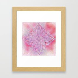 bright and sizzling lace star Framed Art Print