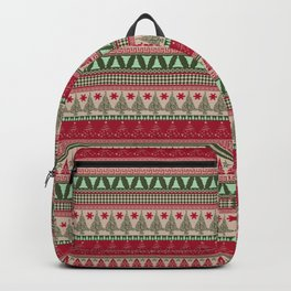 Pine Tree Ugly Sweater Backpack