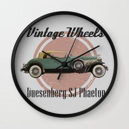 Vintage Wheels: Duesenberg SJ Phaeton Wall Clock