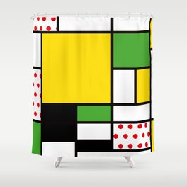 Mondrian – Bycicle Shower Curtain