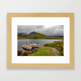 Llyn y Dywarchen, Rhyd Ddu Snowdonia Framed Art Print