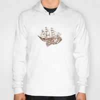 moby dick Hoodies featuring Moby by Lindsey Caneso